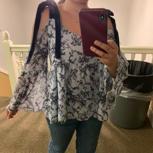 Floral Loft Blouse with Bell Sleeves